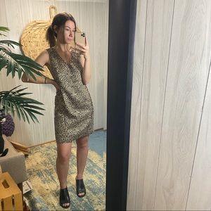 Ann Taylor Leopard Cheetah Animal Print Dress S
